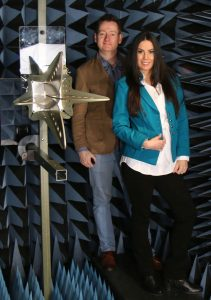 Quad ridge horn anechoic chamber engineers test lab