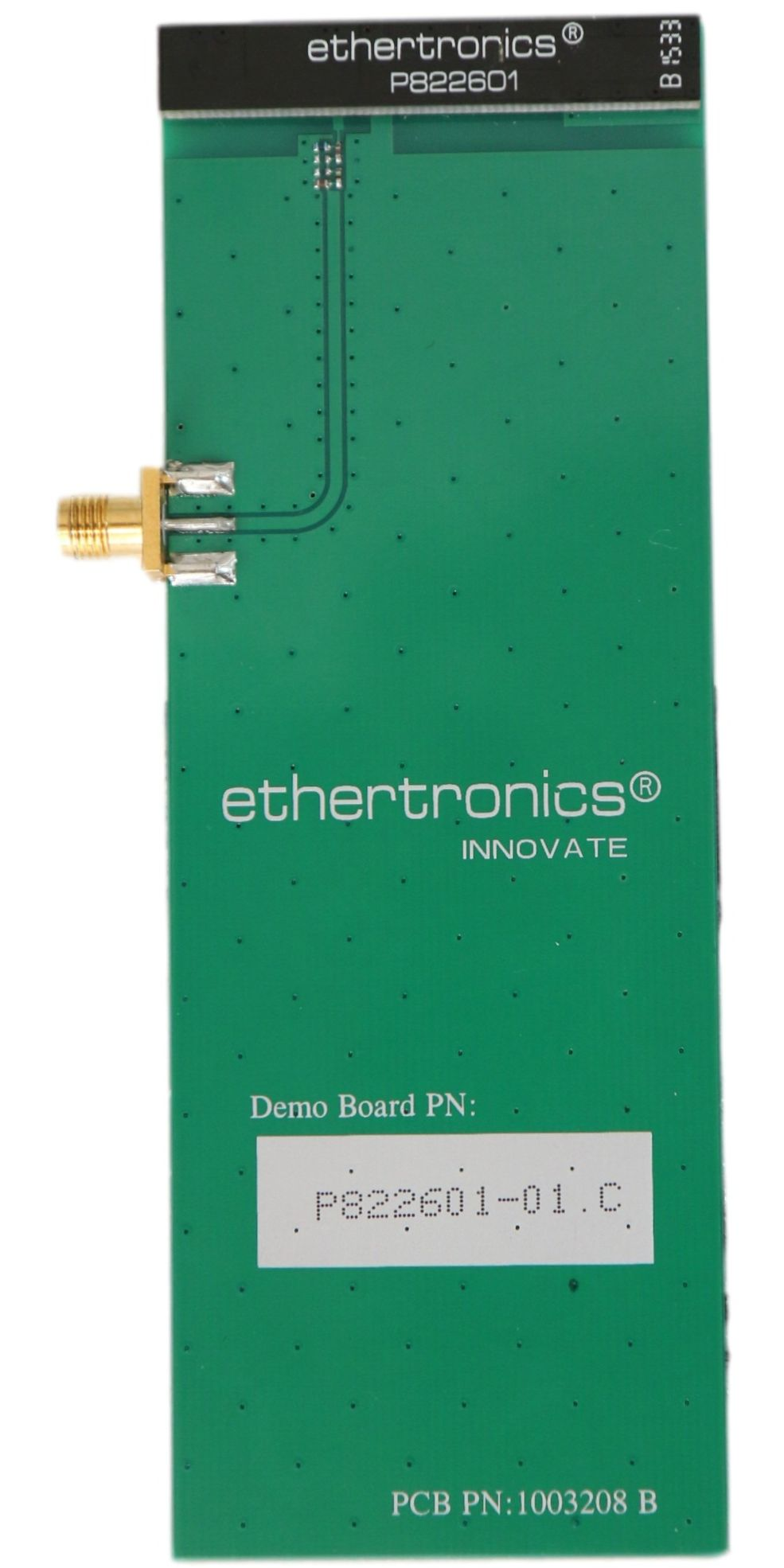Gain dBi test service measured Ethertronics Octa Band PCB antenna