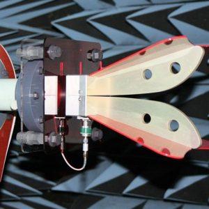 antenna test open boundary double ridge horn