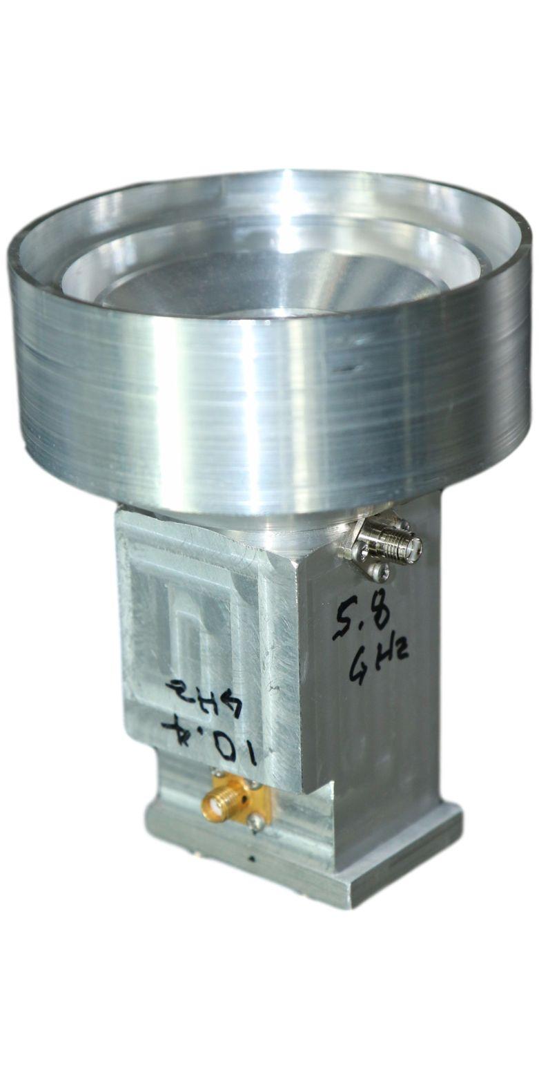 W1GHZ Dual Band Corrigated Feed Horn Antenna Pattern Testing Polar Gain