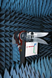 Tapered Slot Horn Antenna Testing in Anechoic Chamber E-Plane and H-Plane