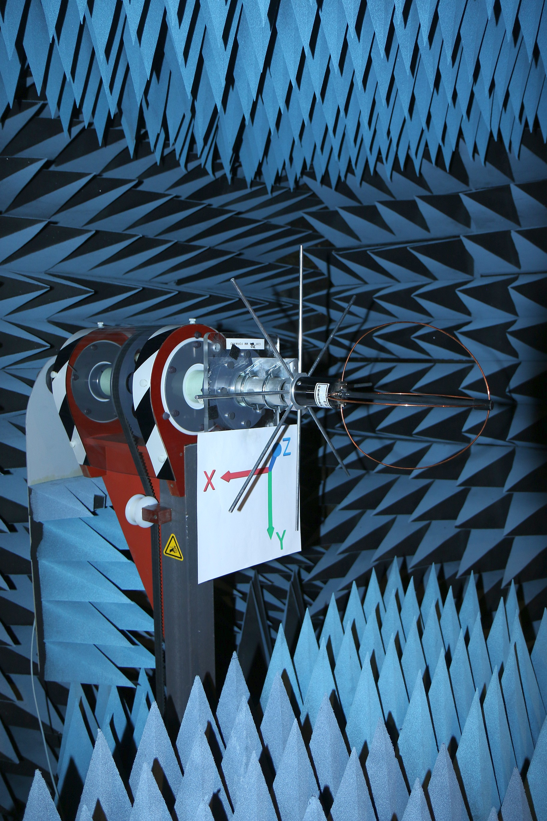 Anechoic Chamber Photo Measured Antenna Gain for LEO Satellite RHCP Circularly Polarized 70 cm