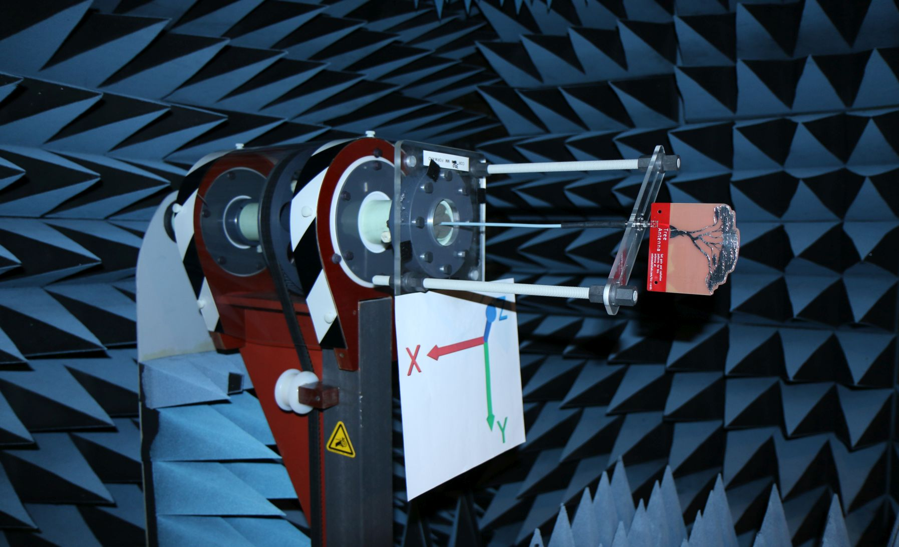 PCB0048A Tree Shape Antenna Tested in Anechoic Chamber 3D Spherical Radiation Pattern Gain in dBi 1