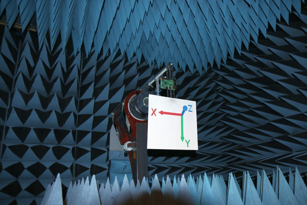 Raspberry Pi Model B-plus Antenna Gain Testing Anechoic Chamber 2