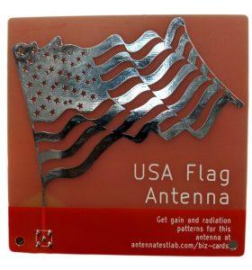 USA Flag Antenna Monopole Close Up PCB dBi