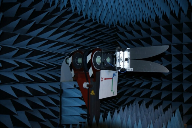 RFSpace UWB-2 Anechoic Chamber Test Setup Vivaldi broadband antenna