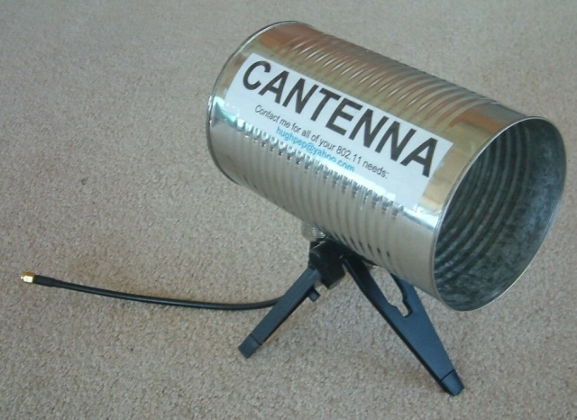 Cantenna eBay Photo For Gain Testing in dBi Anechoic Chamber Performance