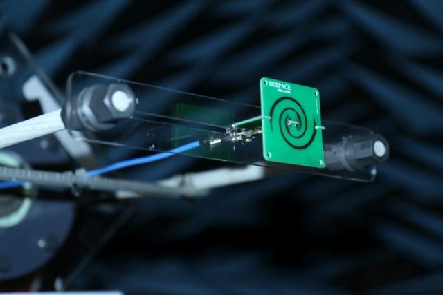 UWB Circularly Polarized Antenna Gain Testing Anechoic Chamber