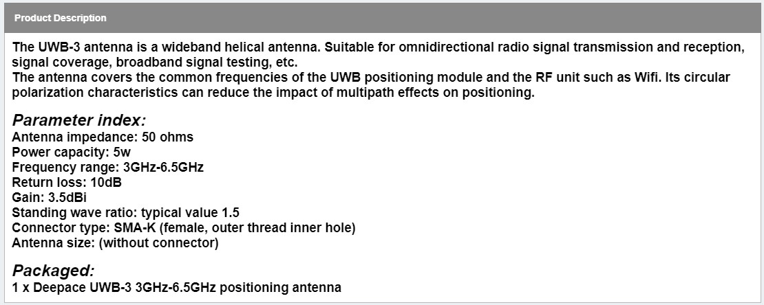 UWB Circularly Polarized Antenna eBay Claims