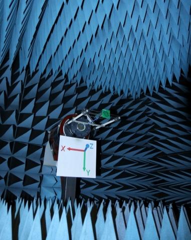 UWB Circularly Polarized Antenna in Anechoic Chamber