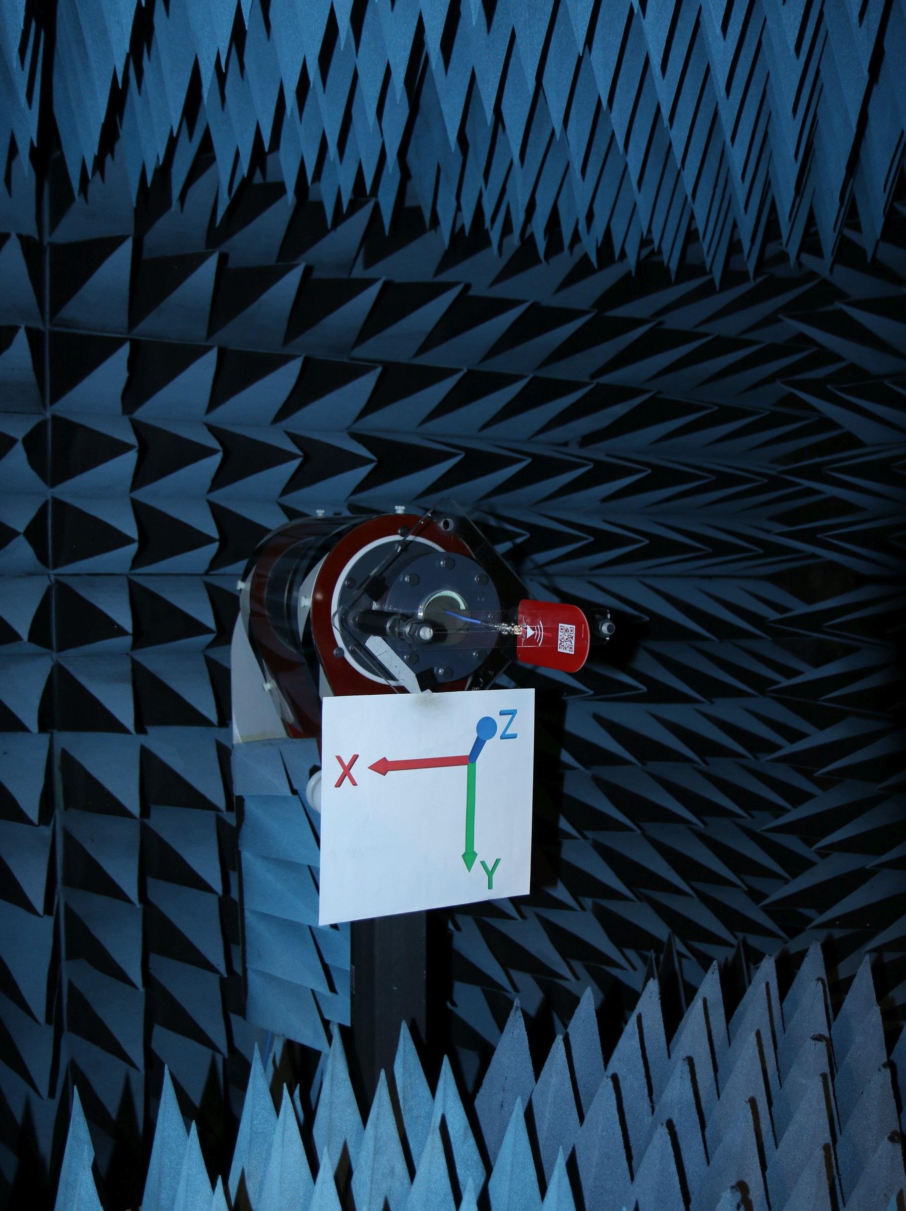 RFSpace DIP1400A Gain Testing Setup Anechoic Chamber View-1
