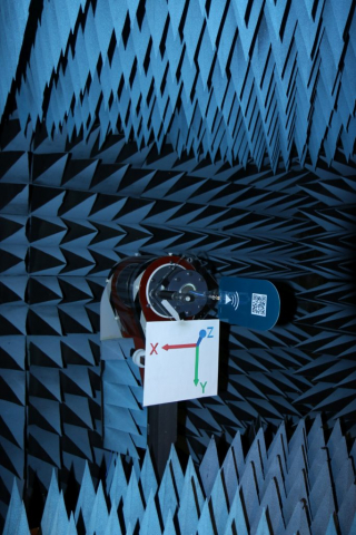 RFSpace DIP700A Gain Testing Setup Anechoic Chamber View-1